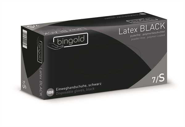 BINGOLD Latex BLACK, natur, 100 Stk./Packung