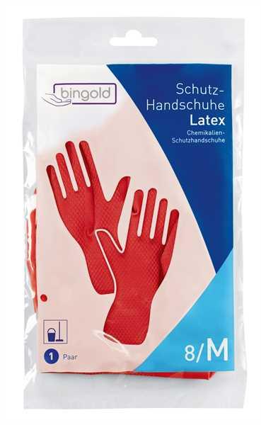 BINGOLD Schutzhandschuh, rot, 12 Paar/Pack
