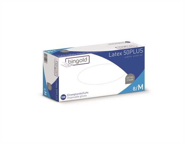 BINGOLD Latex 50PLUS, weiß, 100 Stk./Packung