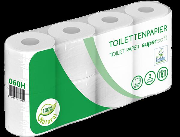 Toilettenpapier 2 lagig, weiß, 250 Blatt