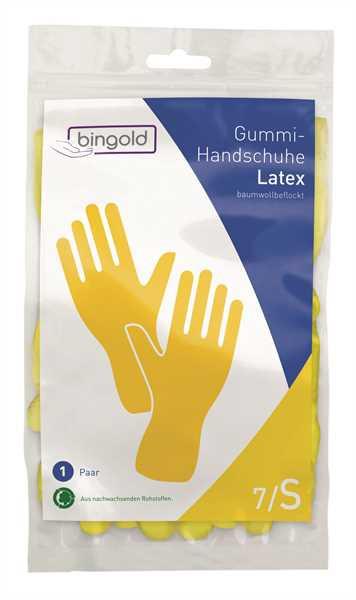 BINGOLD Schutzhandschuh Latex, gelb, 12 Paar/Pack