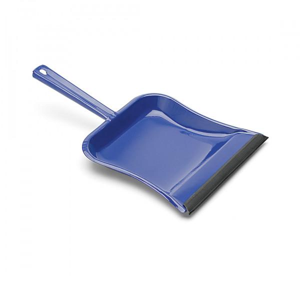 Metall-Kehrschaufel, blau, mit Gummilippe