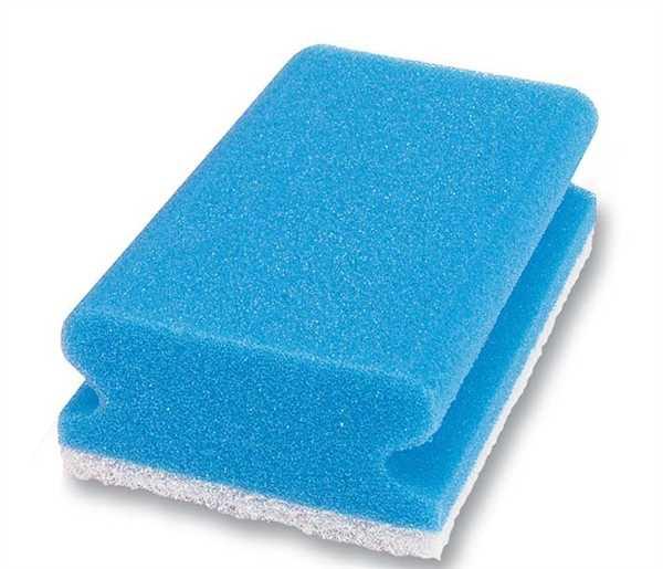 Pad-Schwamm, blau/weiß, 90x70x45mm