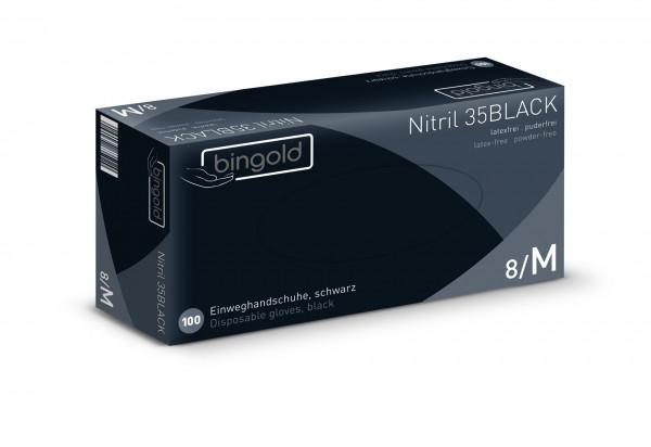 BINGOLD Nitril 35BLACK , puderfrei, lebensmittelgeeignet