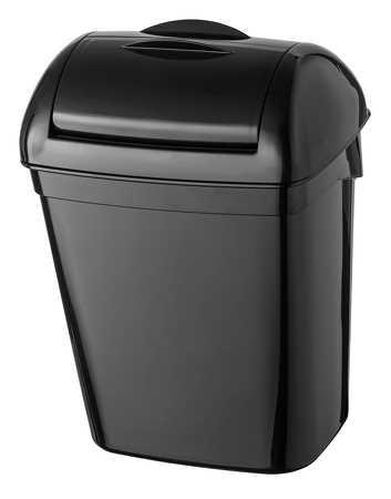 Hygiene-Abfallbehälter 8 Liter Kunststoff schwarz