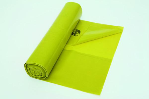 Müllbeutel gelb, 120 Liter, 25 Säcke je Rolle