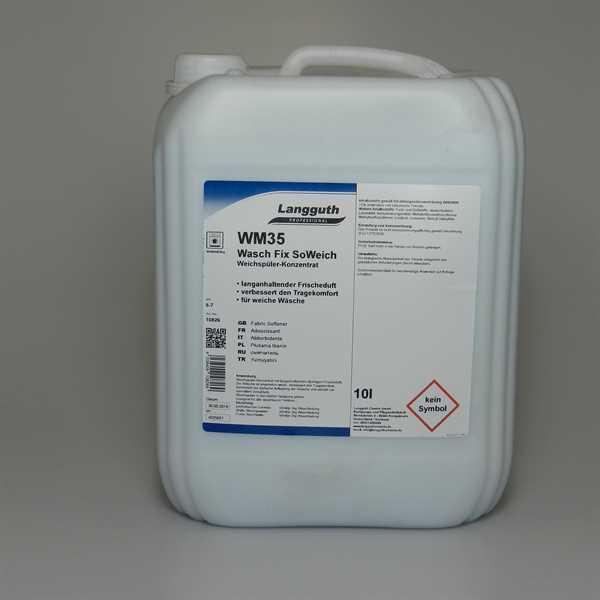 WM35 Weichspüler, Wasch Fix SoWeich 10 Liter