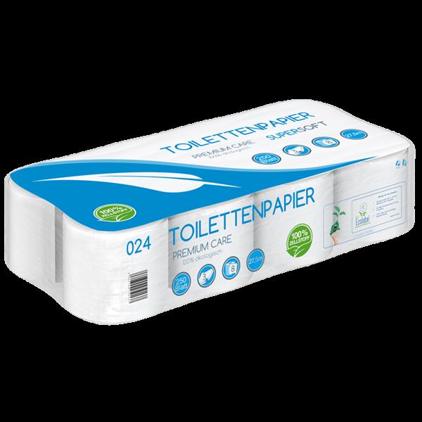 Toilettenpapier 3 lagig Zellstoff 250 Blatt