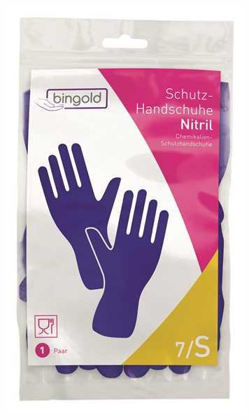 BINGOLD Schutzhandschuh Nitril, blau, 12 Paar/Pack