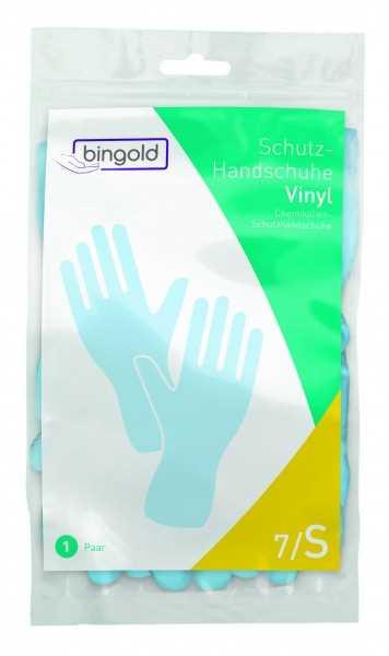 BINGOLD Schutzhandschuh Vinyl, blau, 12 Paar/Pack